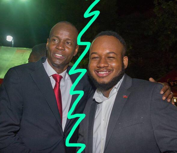 A gauche, le président Jovenel Moïse, à droite, Stéphane Vincent