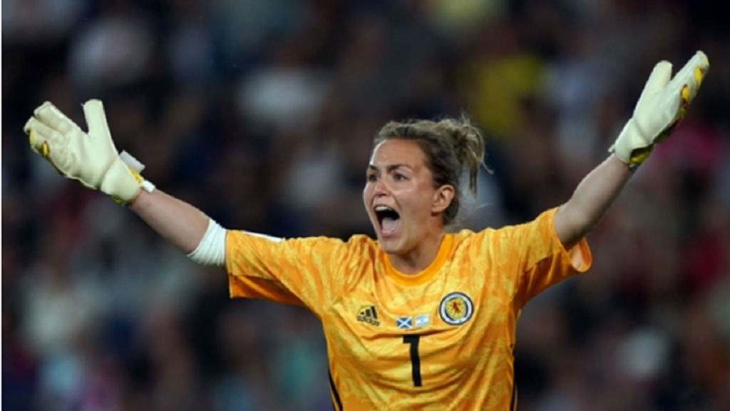 Scotland goalkeeper Lee Alexander was controversially punished for moving off her line.