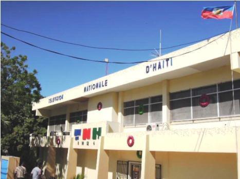La façade de la Radiotélévision nationale d'Haiti.