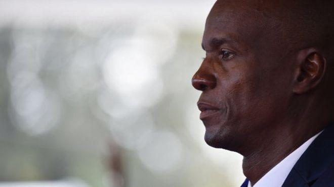 © HECTOR RETAMAL/AFP Jovenel Moïse, lors de son investiture au Palais national, le 7 février 2017 à Port-au-Prince.