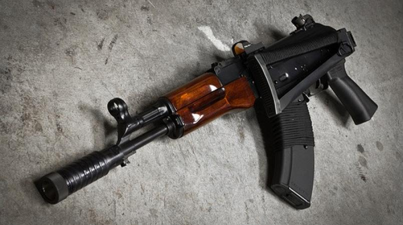 File photo an an AK-47 assault rifle.