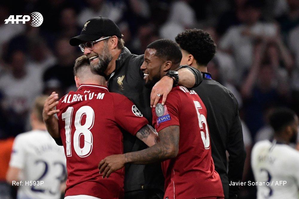 L'entraîneur de Liverpool Jurgen Klopp lors de la victoire sur Tottenham en finale de Ligue des champions le 1er juin 2019 afp.com