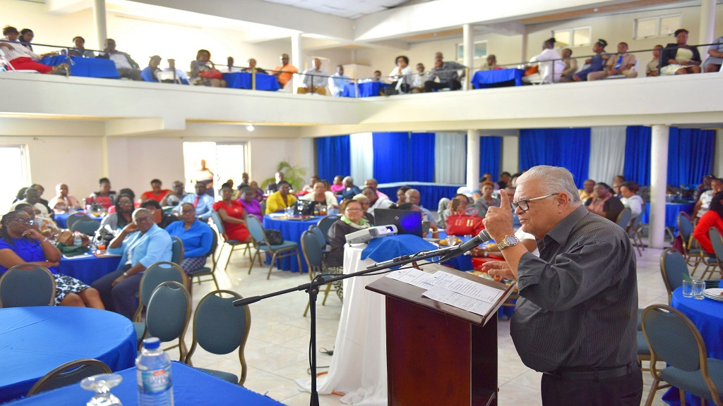 Minister with responsibility for Education, Youth and Information Karl Samuda. (Photo via JIS)