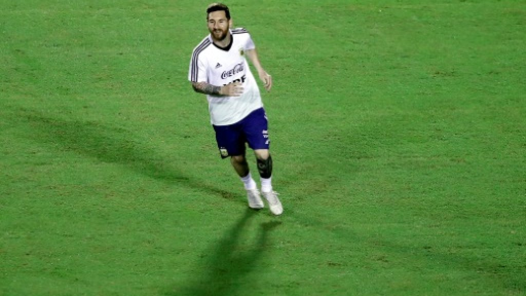L'attaquant argentin Lionel Messi à l'entraînement à Salvador, dans l'Etat de Bahia au Brésil, le 11 juin 2019 AFP/Archives