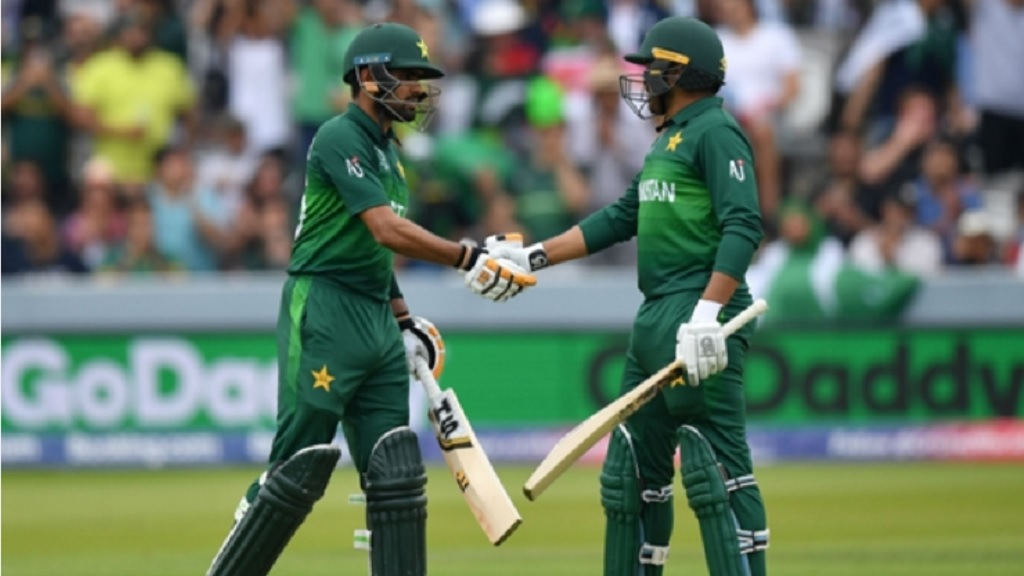 Pakistan's batting heroes Babar Azam and Haris Sohail.