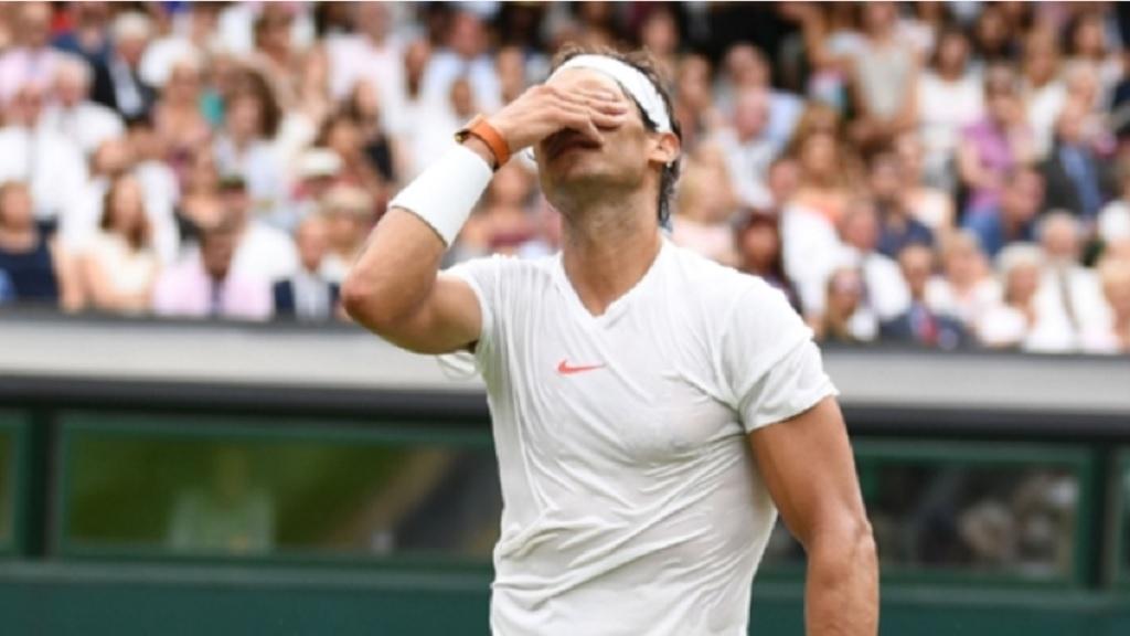 Rafael Nadal at Wimbledon.