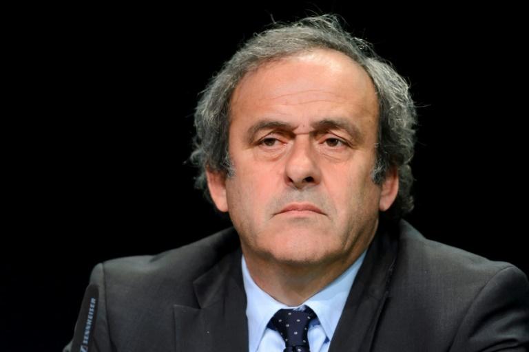 Michel Platini en 2015. AFP/Archives / FABRICE COFFRINI