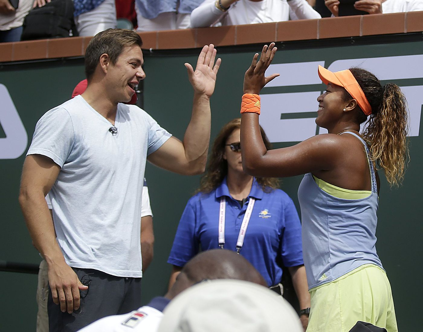 Naomi Osaka et son ancien coach Sascha Bajin. Photo: Tennis.life