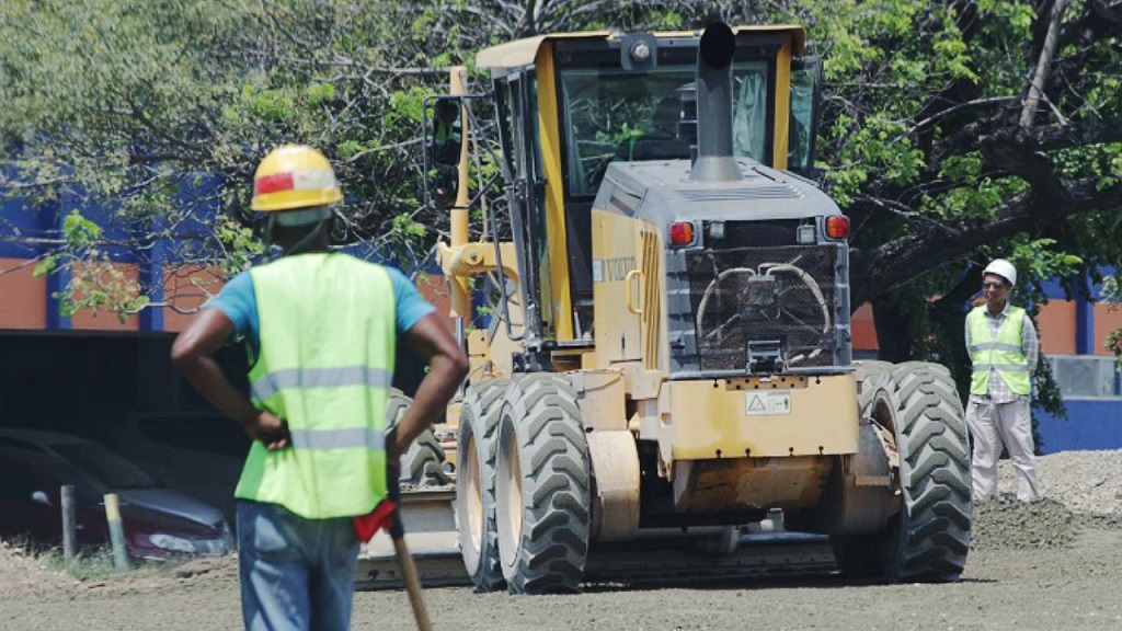 File photo of the ongoing improvement works on the Constant Spring Road corridor in St Andrew.