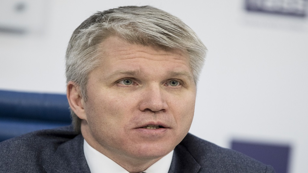 In this Monday, Feb. 5, 2018 file photo, Russia's Sport minister Pavel Kolobkov attends a press conference in Moscow, Russia.