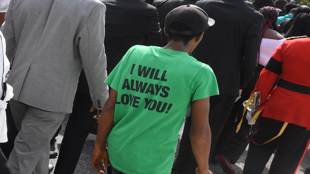 A profound statement from a supporter of Edward Phillip George Seaga. (Photos: Marlon Reid)