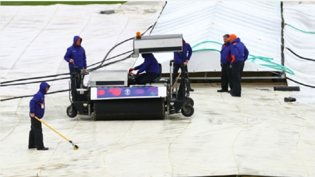 Covers on at the County Ground.