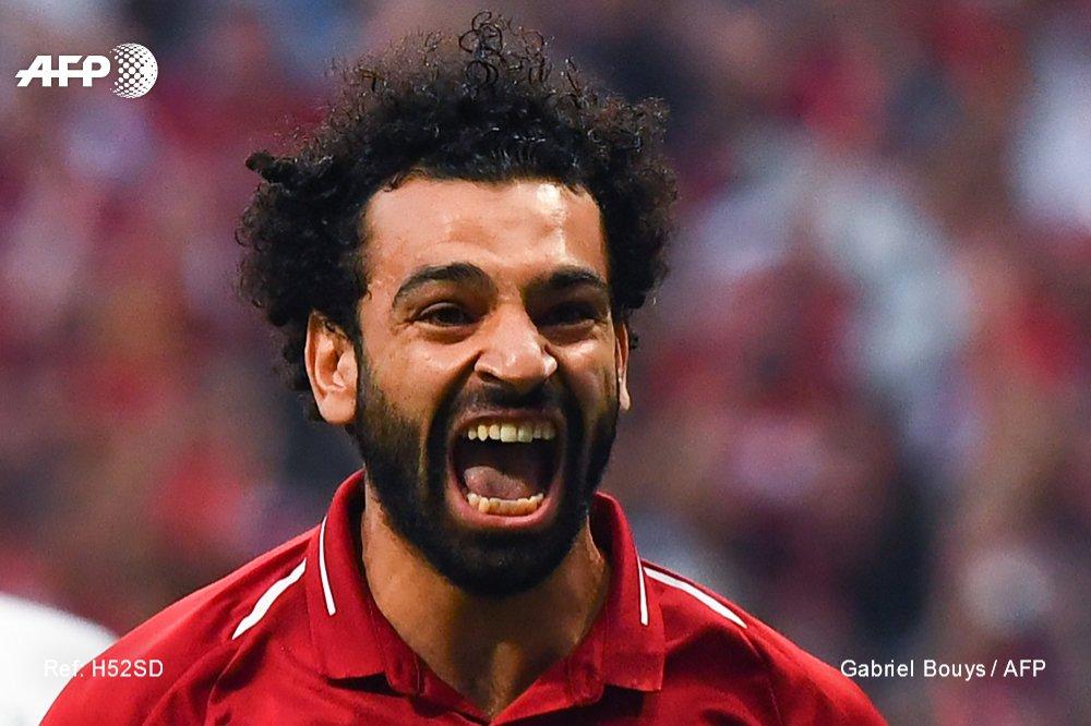 L'attaquant de Liverpool Mohamed Salah buteur face à Tottenham en finale de C1 à Madrid le 1er juin 2019