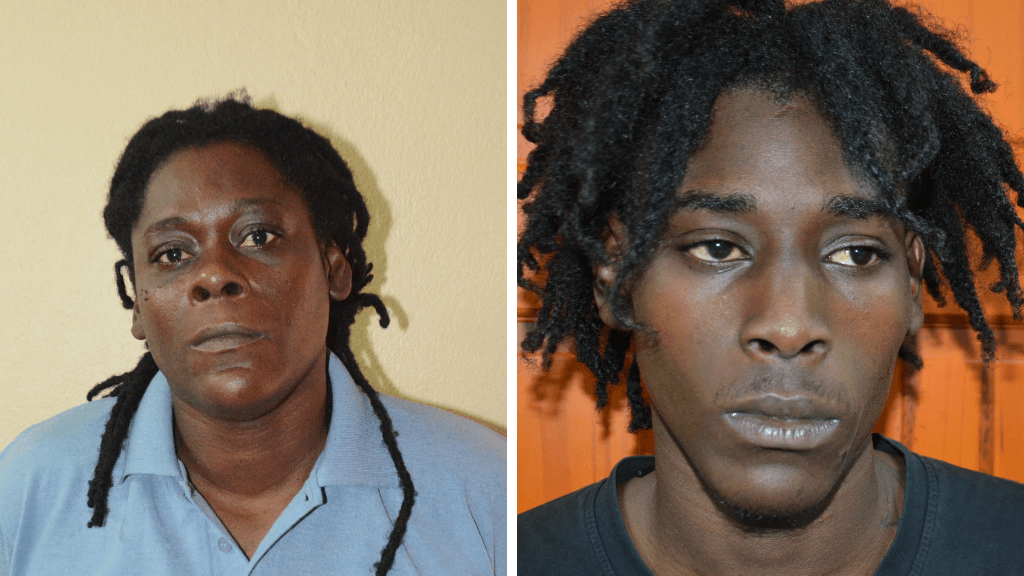 "Charged with murder: Shelly-Ann ""Empress"" Douglas (left) and her son Rodelle ""Skeedo"" Douglas (right). Photos provided by the Trinidad and Tobago Police Service (TTPS)."