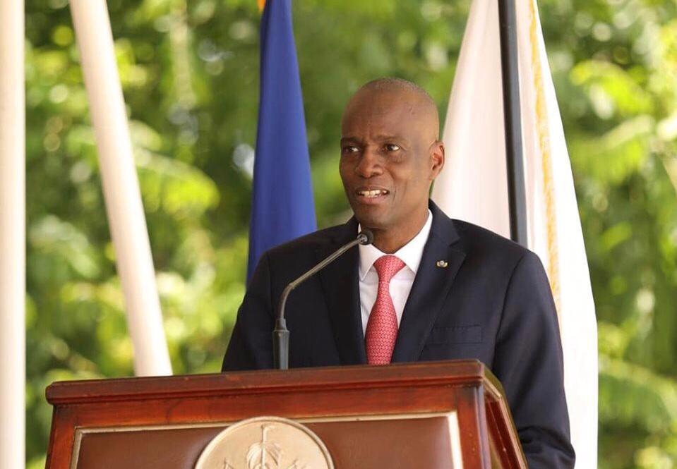 Le président haïtien, Jovenel Moïse, lors de son discours à l'occasion du 24e anniversaire de la police nationale