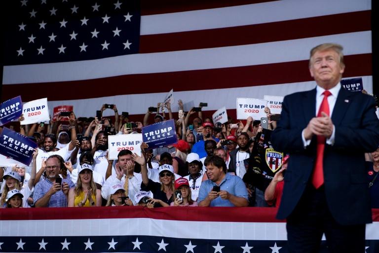 Le président américain Donald Trump lors d'un meeting à Panama City Beach, le 8 mai 2019 en Floride
