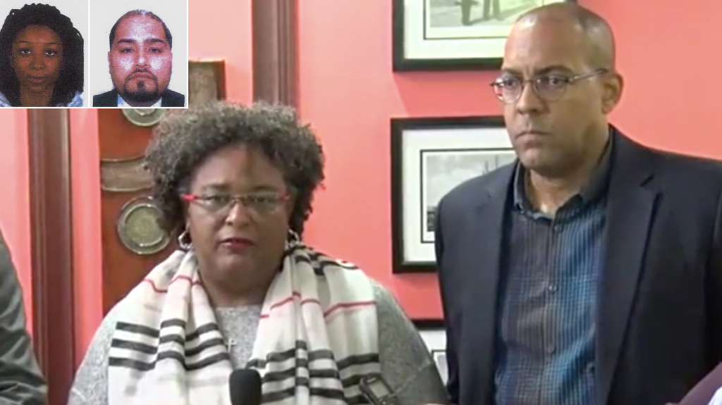 Image result for mia mottley on search for missing couple in barbados