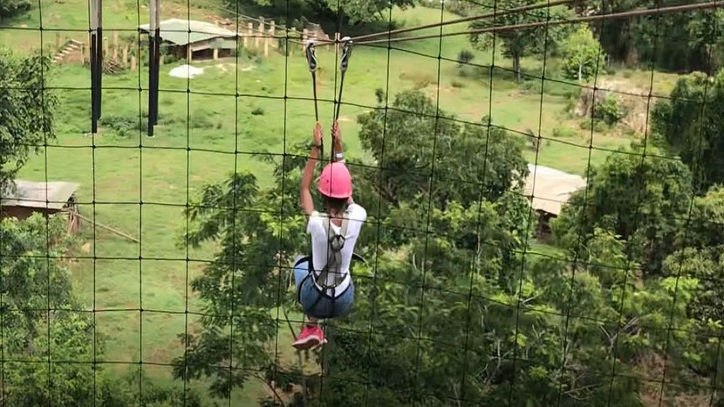 Loop Weekends' Shanique takes flight in the zip line