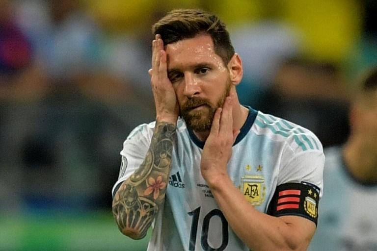 Le joueur de l'Argentine Lionel Messi lors de la défaite face à la Colombie 2-0 à Salvador en Copa America le 15 juin 2019