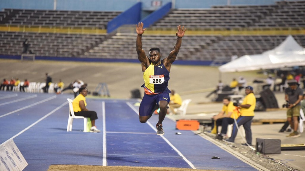 Clive Pullen competes in the men's triple jump at the JAAA Supreme Ventures National Senior and Junior Championships at the National Stadium on Thursday, June 20, 2019 at the National Stadium.