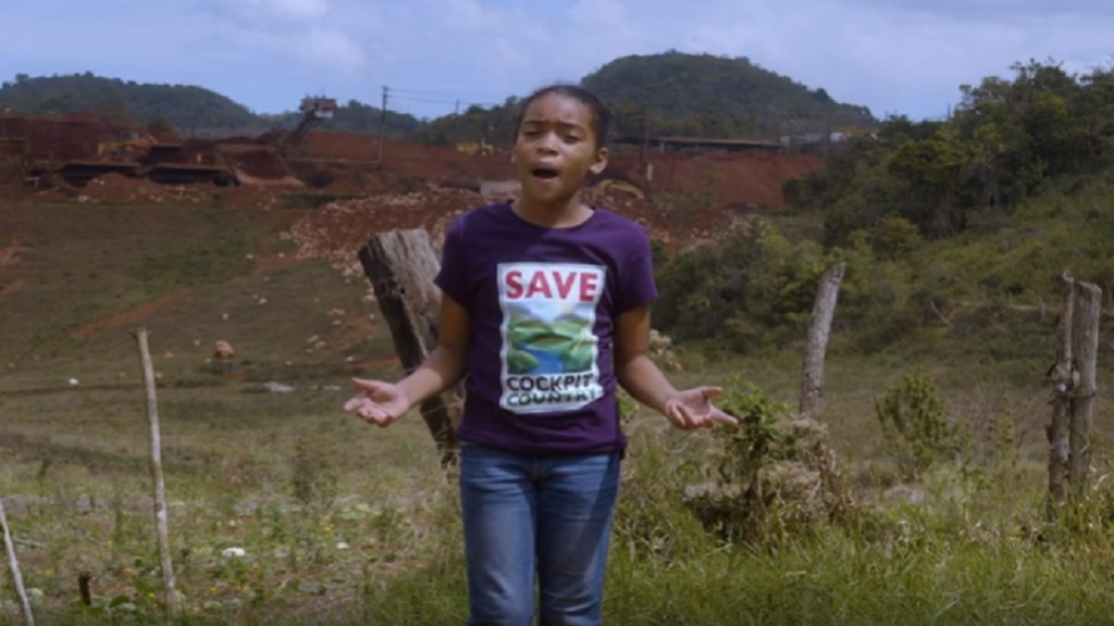 Amirah, a student environmental leader, is featured in the JET campaign.