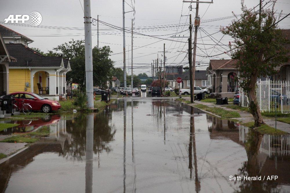 Une rue de La Nouvelle-Orléans inondée, le 10 juillet 2019 afp.com - Seth HERALD