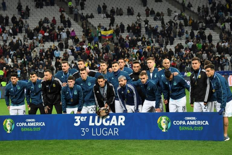 L'Argentine prend la 3e place de la Copa América lors de sa victoire sur le Chili 2-1 à Sao Paulo le 6 juillet 2019