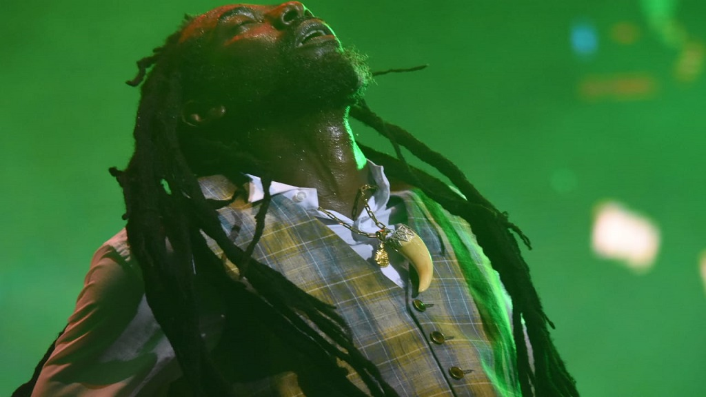 Buju Banton performs at Reggae Sumfest 2019 at Catherine Hall in Montego Bay, St James on Sunday morning. (PHOTOS: Marlon Reid)