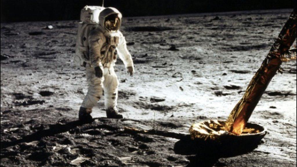Edwin E. Aldrin Jr. sur la Lune, le 20 janvier 1969 AFP/Archives