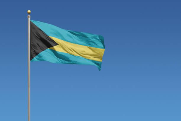 Illustration du drapeau des Bahamas.