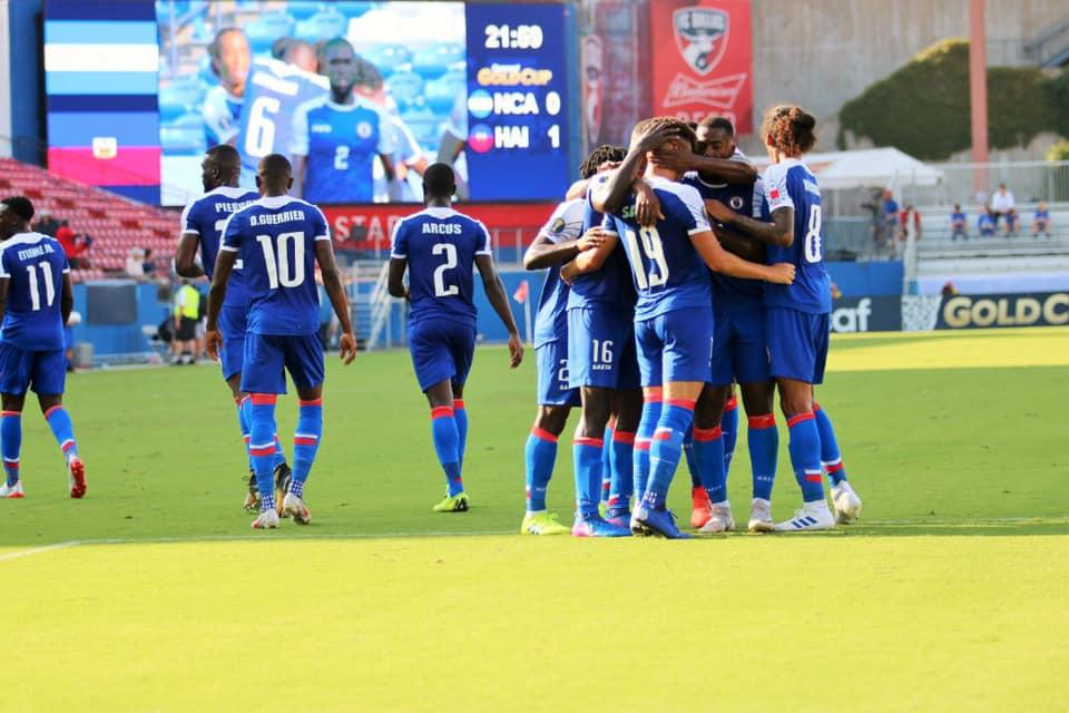 illustrations des jouers de la sélection haïtienne de Football