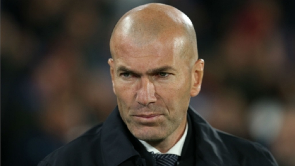Real Madrid coach Zinedine Zidane.