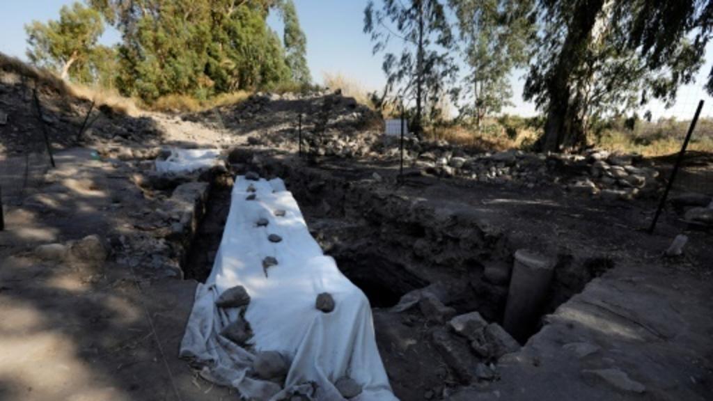 Vue générale prise le 6 août 2017 des fouilles archéologiques menées dans le nord d'Israël à la recherche du lieu de naissance de Saint-Pierre AFP/Archives