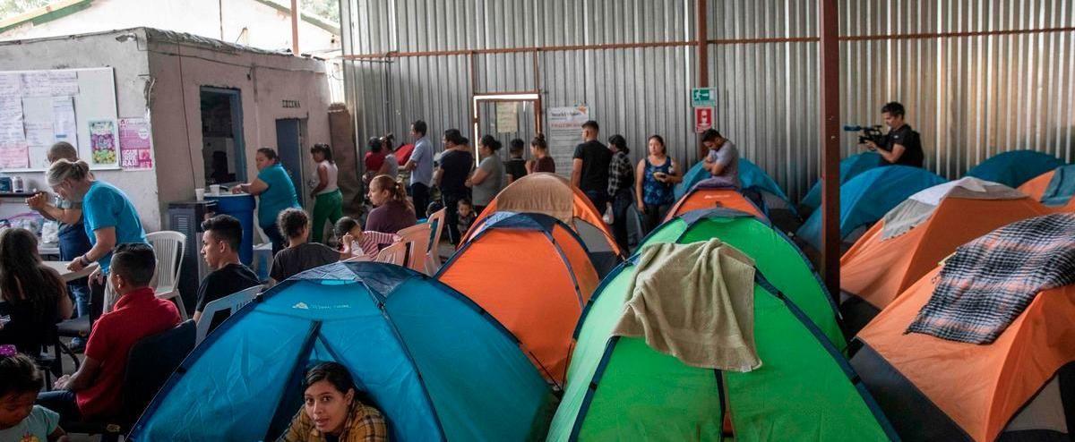 Les centres pour migrants de Tijuana sont pleins depuis que ces derniers doivent attendre au Mexique une réponse à leur demande de statut de réfugié aux Etats-Unis afp.com - Eduardo Jaramillo Castro