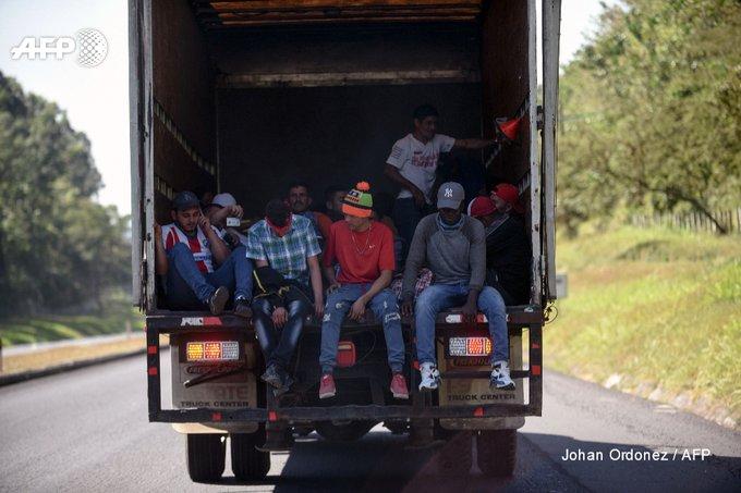Des milliers de personnes originaires d'Amérique centrale espèrent obtenir l'asile aux Etats-Unis pour fuir la violence des gangs dans leur pays afp.com - Johan ORDONEZ