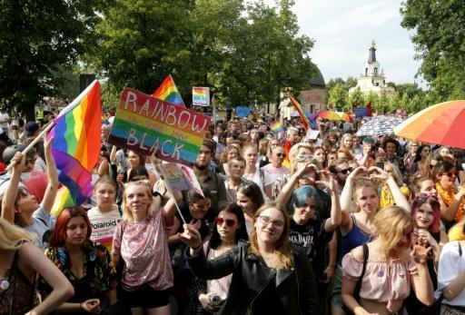 Gay pride le 20 juillet 2019 à Bialystok, dans le nord-est de la Pologne afp.com - Jerzy Baliski