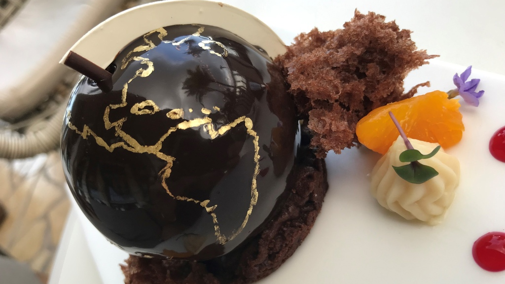 This dessert was created using Cocoa Republic's chocolate by a chef at Hyatt Regency for World Chocolate Day. The company is targeting chefs internationally in a new B2B strategy.