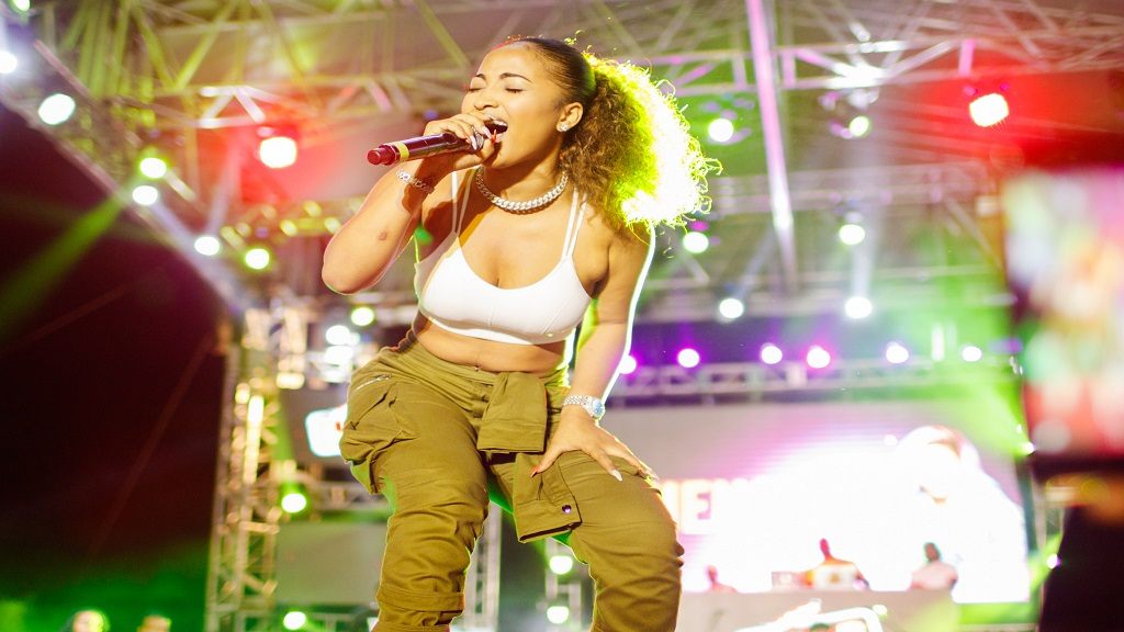 Shenseea performing at the recent Red Stripe Live Summer Edition at Grizzlys Plantation in St Ann.