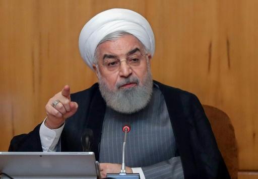 Photo fournie par la présidence iranienne le 3 juillet 2019 montrant le président Hassan Rohani au cours d'une réunion du gouvernement à Téhéran