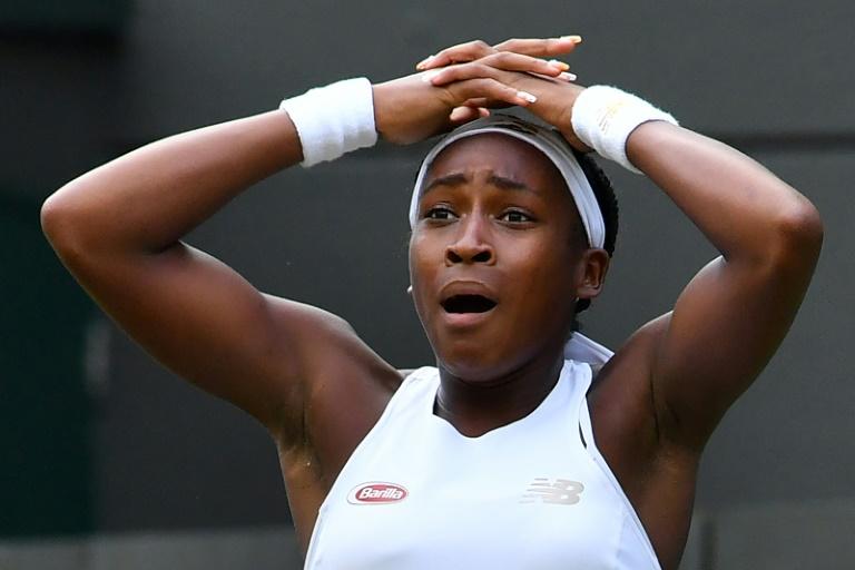 Cori Gauff émue après avoir éliminé la légendaire Venus Williams à Wimbledon, le 1er 2019
