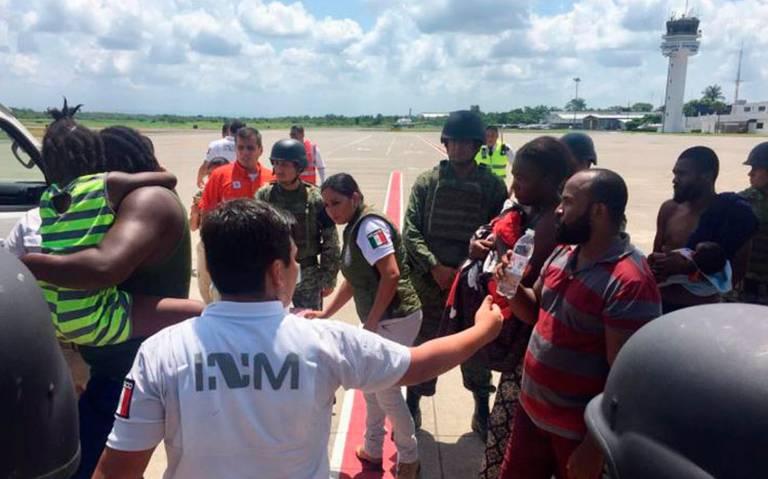 Illustration du processus de rapatriement des 81 haïtiens à   l'aéroport de Tapachula Chiapas - Crédit Photo : El sol de Mexico
