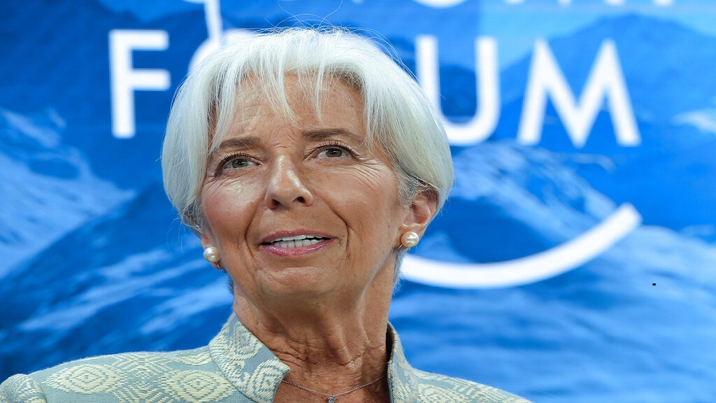 "Lagarde said she would ""temporarily relinquish"" her responsibilities as IMF managing director during the nomination period. (AP Photo)"