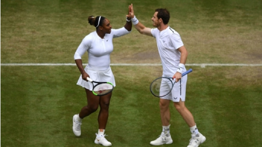 Star mixed doubles pairing Serena Williams and Andy Murray.