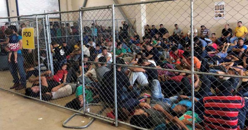 Les photos publiée par le DHS ouvrent une fenêtre rare sur les centres de rétention. Office of Inspector General/DHS/Handout via REUTERS