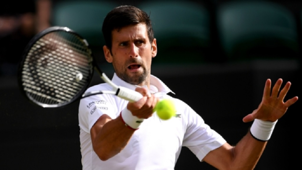 Wimbledon's top seed Novak Djokovic.