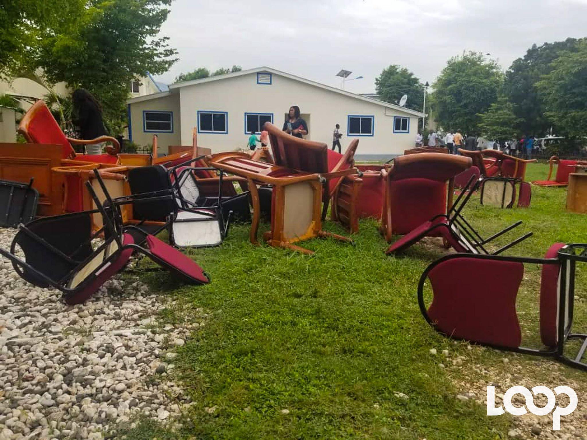 Les dégâts enregistrés, jeudi 31 mai, sont évalués à plus de six millions de gourdes selon le président du sénat Carl Murat Cantave./Photo: Loop Haiti-Luckson Saint-Vil.