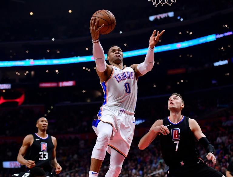 Russell Westbrook, ici le 4 janvier 2019 contre Los Angeles Clippers va être transféré par Oklahoma City à Houston.