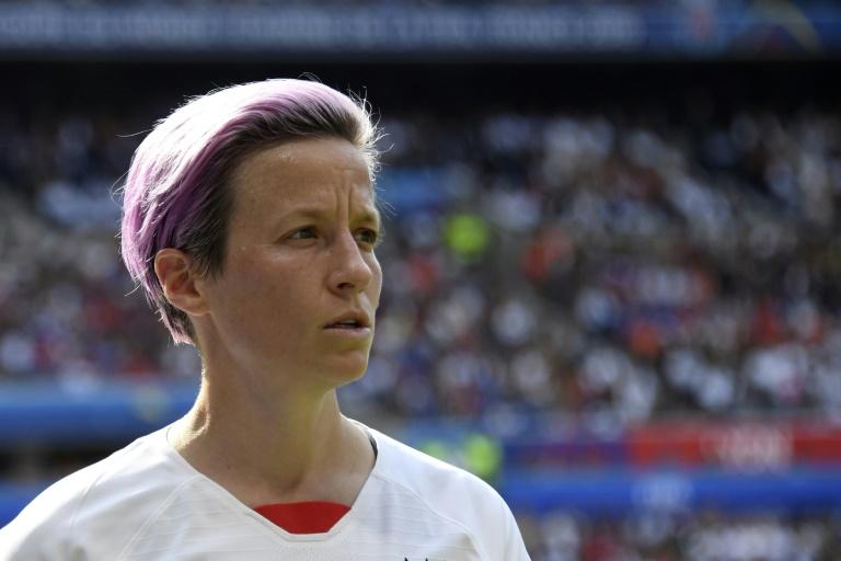 L'attaquante de l'équipe des Etats-Unis Megan Rapinoe en finale du Mondial-2019 féminin de football face à la France, le 7 juillet 2019 à Décines-Charpieu