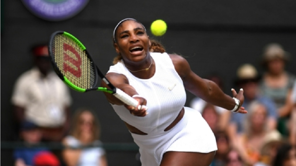 Serena Williams during the Wimbledon final.