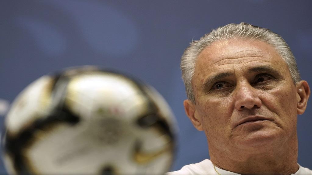 Brazil coach Tite attends a press conference at the Maracana stadium in Rio de Janeiro, Brazil, Saturday, July 6, 2019.
